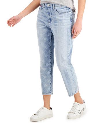 Укороченные джинсы со звездами и полосками Tommy Jeans