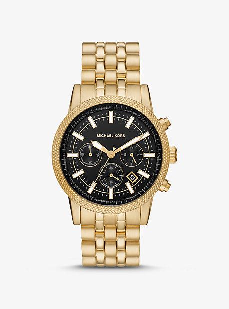Oversized Hutton Gold-Tone Watch Michael Kors