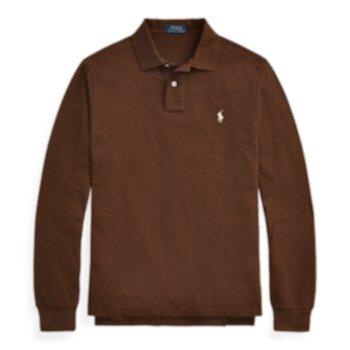 Mesh Long-Sleeve Polo Shirt  ig Ralph Lauren