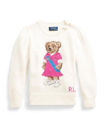 Свитер Polo Bear для маленьких девочек Ralph Lauren