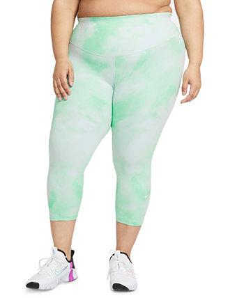 Plus Size One Icon Clash Crop Leggings Nike