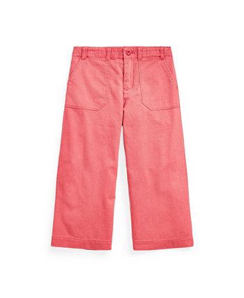 Укороченные брюки чинос для маленьких девочек Ralph Lauren