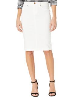 Джинсовая юбка-карандаш в цвете Белый Blank NYC