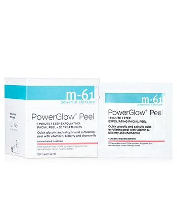 PowerGlow Peel 1-минутный одноэтапный отшелушивающий пилинг для лица - 30 процедур M-61 by Bluemercury
