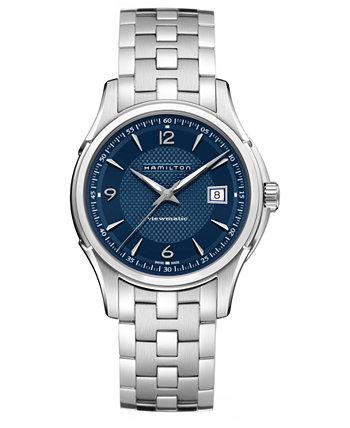 Мужские швейцарские автоматические часы Jazzmaster Viewmatic с браслетом из нержавеющей стали 40 мм Hamilton