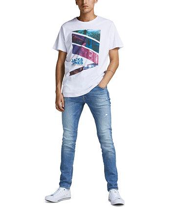 Мужская футболка с графическим изображением города Jack & Jones