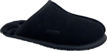 Замшевые тапочки Smiths с подкладкой из натуральной овчины SMITHS WORKWEAR