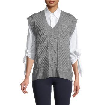 Жилет-свитер вязанной вязки Lea & Viola