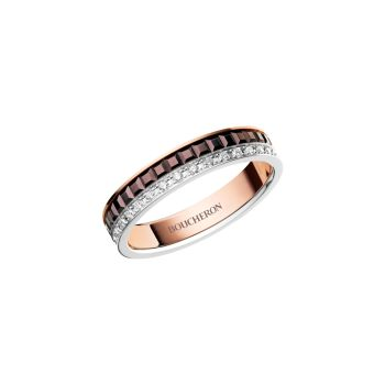 Quatre Classique 18-каратное белое, розовое и желтое золото & amp; Бриллиантовое обручальное кольцо Boucheron