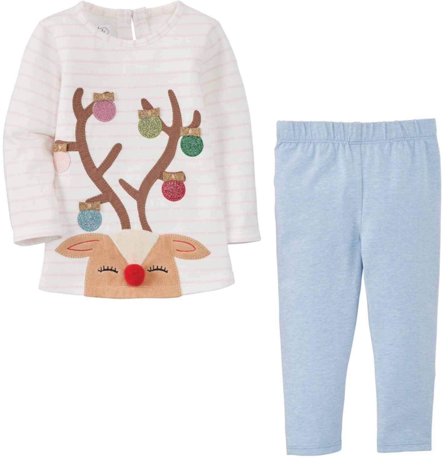 Reindeer Tunic and Legging Mud Pie