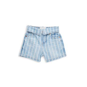 Полосатые джинсовые шорты Little Girl's Zia Habitual