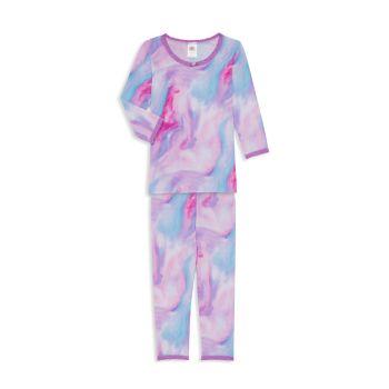 Маленькая девочка & amp; Набор акварельной пижамы для девочек из двух предметов Esme