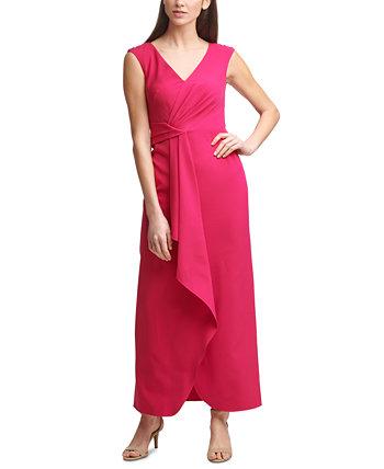 Миниатюрное платье-акваланг без рукавов с запахом спереди Eliza J