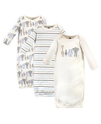 Детские платья для девочек и мальчиков, упаковка из 3 Hudson Baby