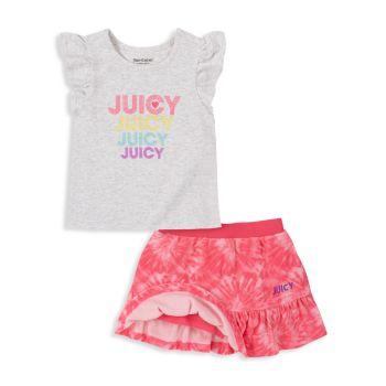 Двухкомпонентный топ и amp; Комплект шорты Juicy Couture