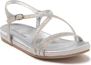 Bellrose Rhinestone Embellished Casual Sandal Lauren Lorraine