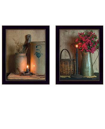"""Коллекция Country Candlelight, автор Susan Boyer, настенные рисунки с принтом, готовые к развешиванию, черная рамка, 14 """"x 18"""" Trendy Décor 4U"""