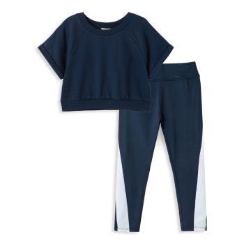 Girl's 2-Piece Dolman-Sleeve Top & Pants Active Set