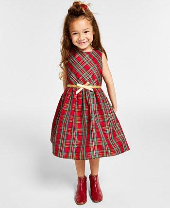 Клетчатое платье и пальто для маленьких девочек Speechless