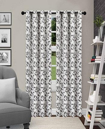 """Набор плотных штор с текстурированными листьями, 2 шт., 52 """"x 108"""" Superior"""