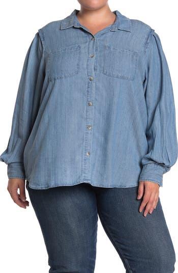 Рубашка с короткими рукавами и пуговицами из шамбре Democracy