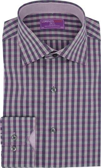 Рубашка с пуговицами спереди в клетку с отделкой Lorenzo Uomo