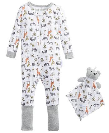 Детские Мальчики 2-Шт. Детский комплект пижамы и одеяла с принтом Max & Olivia