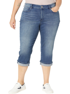 Plus Size Marilyn Crop with Frayed Cuffs in Meloy NYDJ Plus Size