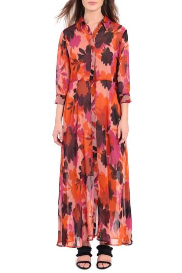 Макси-платье-рубашка с принтом спереди (Petite) Donna Morgan