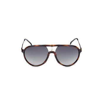 Солнцезащитные очки-авиаторы 53MM из искусственной черепаховой расцветки Carrera