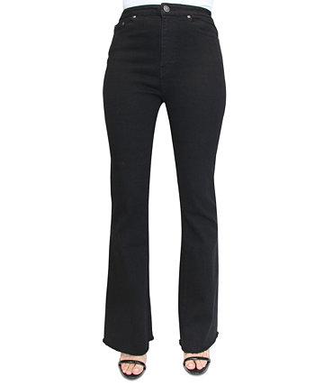 Джинсовые расклешенные джинсы Crave Fame Juniors на шнуровке с потрепанным краем и потрепанными краями Almost Famous