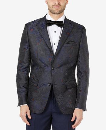 Мужской пиджак из жаккарда приталенного кроя Tallia