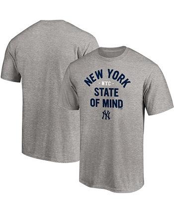 Мужская серая серая футболка New York Yankees Hometown Heater Big and Tall Fanatics
