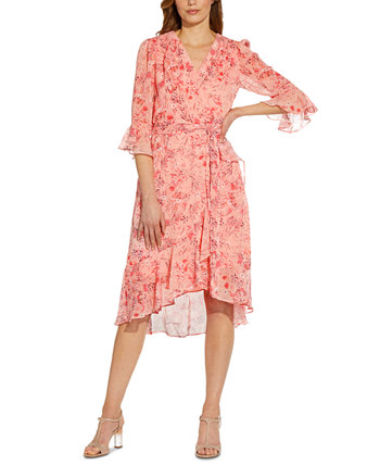 Ruffled High-Low Dress Adrianna Papell