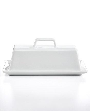 Блюдо для сливочного масла, покрытое белой посудой, созданное для Macy's The Cellar