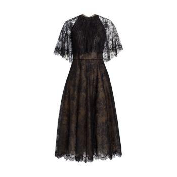 Коктейльное платье со складками Oscar de la Renta