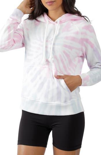 Tie-Dye Pullover Hoodie 90 Degree By Reflex