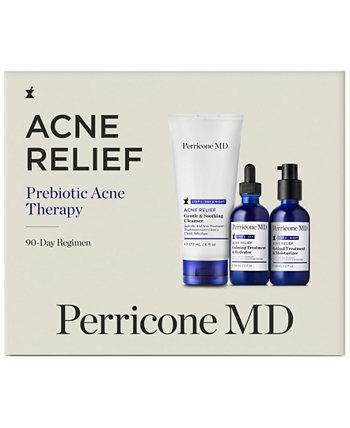 3-шт. 90-дневный набор для лечения акне с пребиотиками от прыщей Perricone MD
