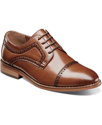 Большой мальчик Дикинсон Кепка Toe Оксфордская обувь Stacy Adams