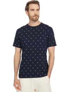 Классическая футболка с круглым вырезом и принтом по всей поверхности Scotch & Soda