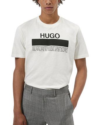 Мужская футболка с графическим логотипом Daitai Manifesto Hugo Boss HUGO