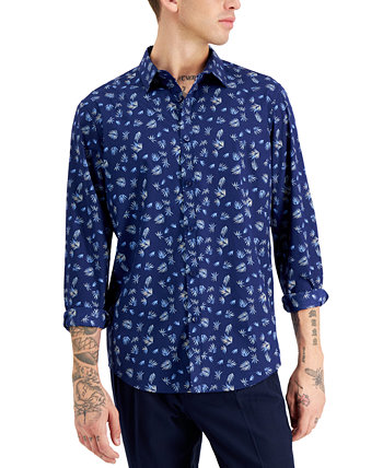Мужская рубашка с принтом Palm Ditsy, созданная для Macy's INC International Concepts