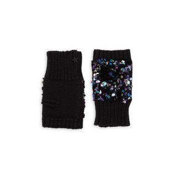 Детское Вязание & amp; Перчатки без пальцев с пайетками JOCELYN