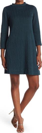 Платье-свитер с воротником-стойкой Sandra Darren