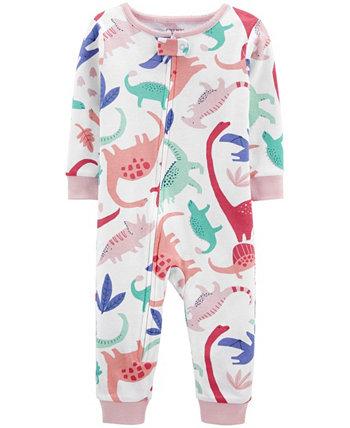 Пижама из хлопка с плотной посадкой для маленьких девочек Carter's
