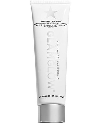 Очищающий крем-пенка для умывания Supercleanse Clearing Cream-To-Foam Cleanser, 5 унций. GLAMGLOW