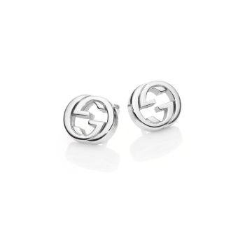 Серьги-гвоздики Interlocking G из стерлингового серебра GUCCI