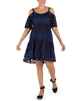 Кружевное платье с открытыми плечами Robbie Bee