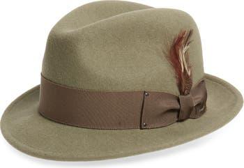 Шерстяная шляпа-федора с кнопками Tino с полями BAILEY