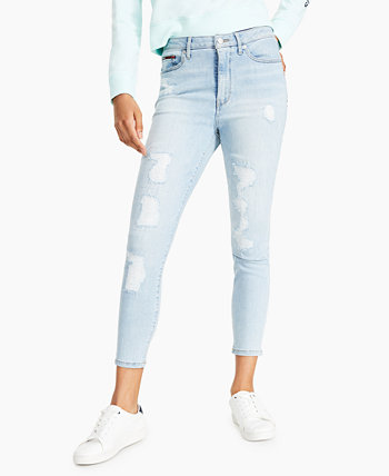 Рваные джинсы скинни до щиколотки Tommy Jeans